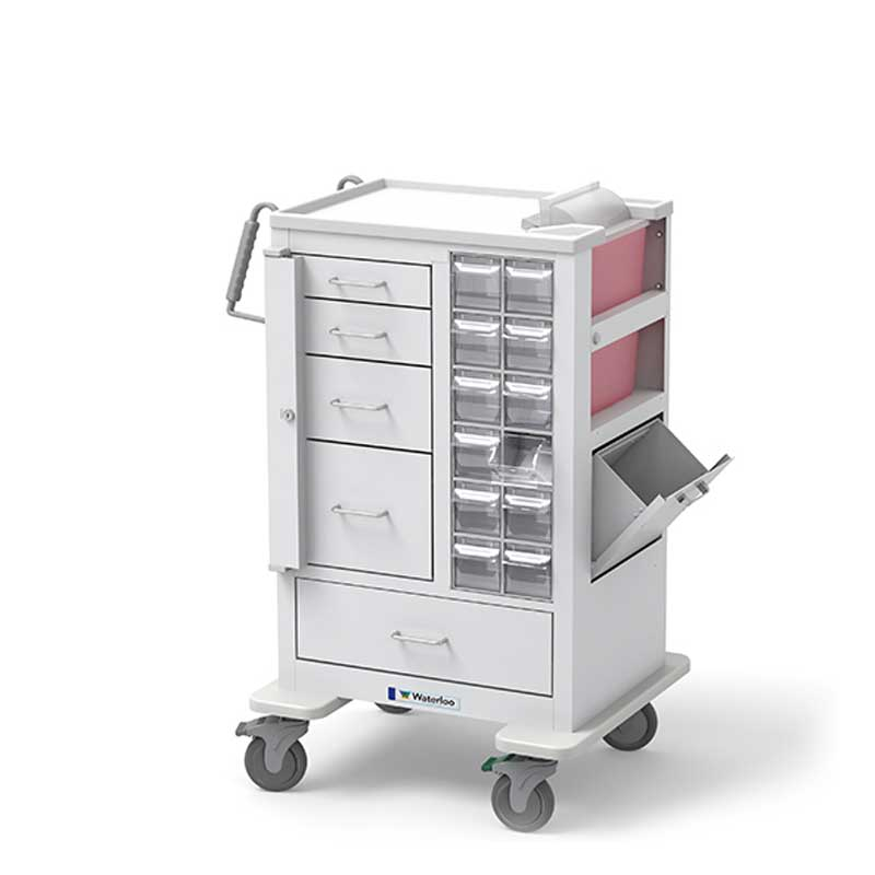 5 Drawer Tall Phlebotomy Cart