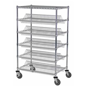 5 Tier Double Suture Wire Shelving Unit