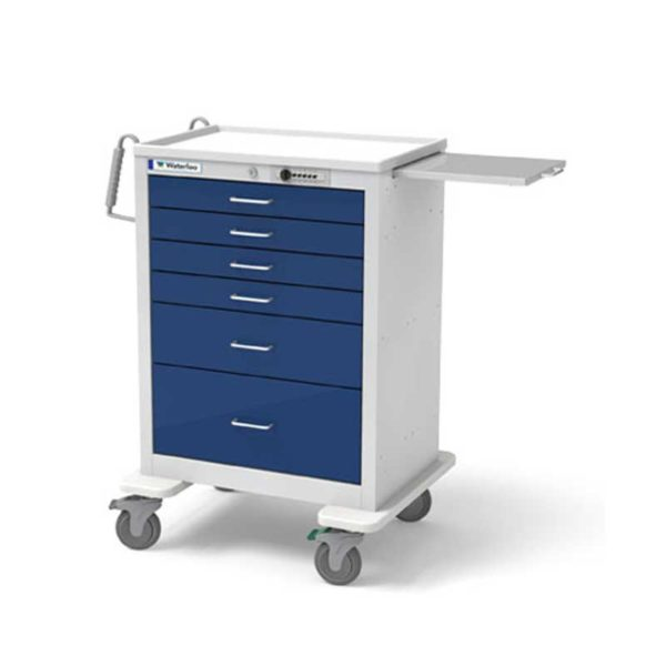 5 Drawer Anesthesia Cart Traditional Steel
