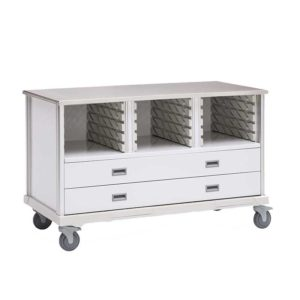 ECP Cart with Drawers and 2 Center Columns