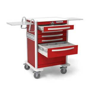 5 Drawer Emergency Cart Elite Aluminum