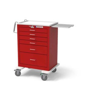 5 Drawer Emergency Cart Traditional Steel