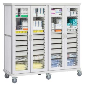 Four Column General Storage Cart