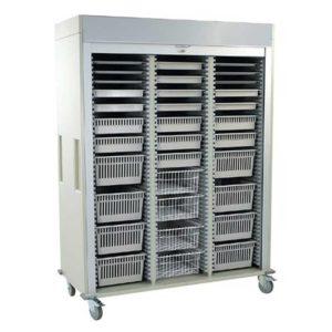 Harloff Triple Column Storage Cart