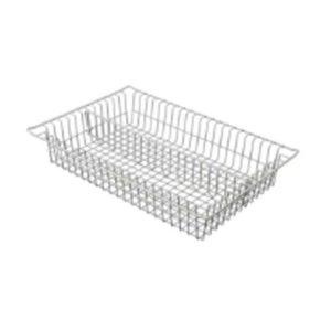 Medical Storage Cart Vertically Divided Wire Basket