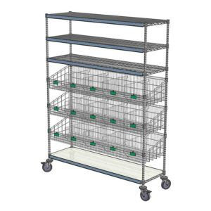 Q-Tower Storage Tower Large with Wire Baskets
