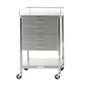 Stainless Steel Instrument Table with Four Drawers