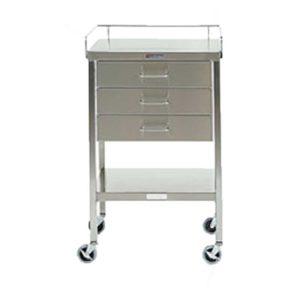 Stainless Steel Instrument Table with Three Drawers