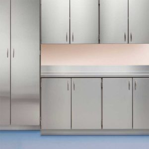Stainless Steel Lower and Upper Cabinets