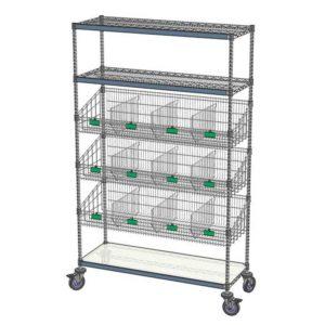 Combination Shelving Unit 3 Flat/3 Basket