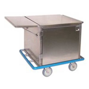 Steel Cabinet Cart with Side Table